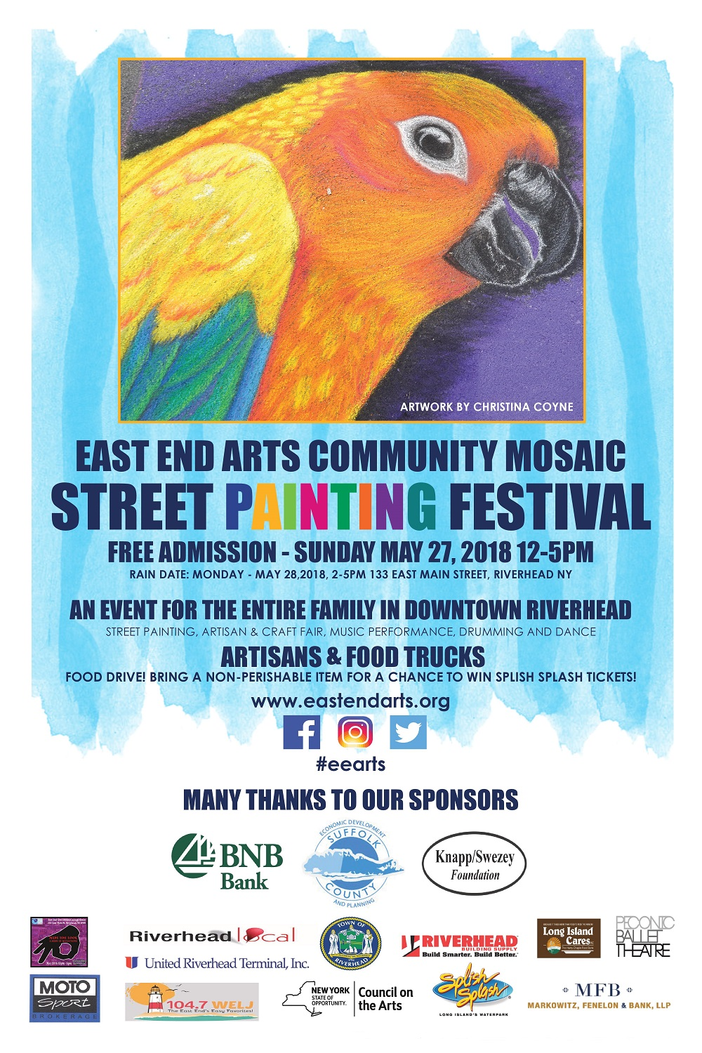 Join Us For The East End Community Mosaic Street Painting Festival ...