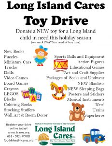 Long Island Cares Most Needed Toys