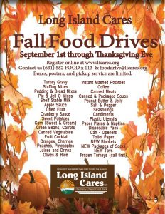 Long Island Cares Thanksgiving Donations