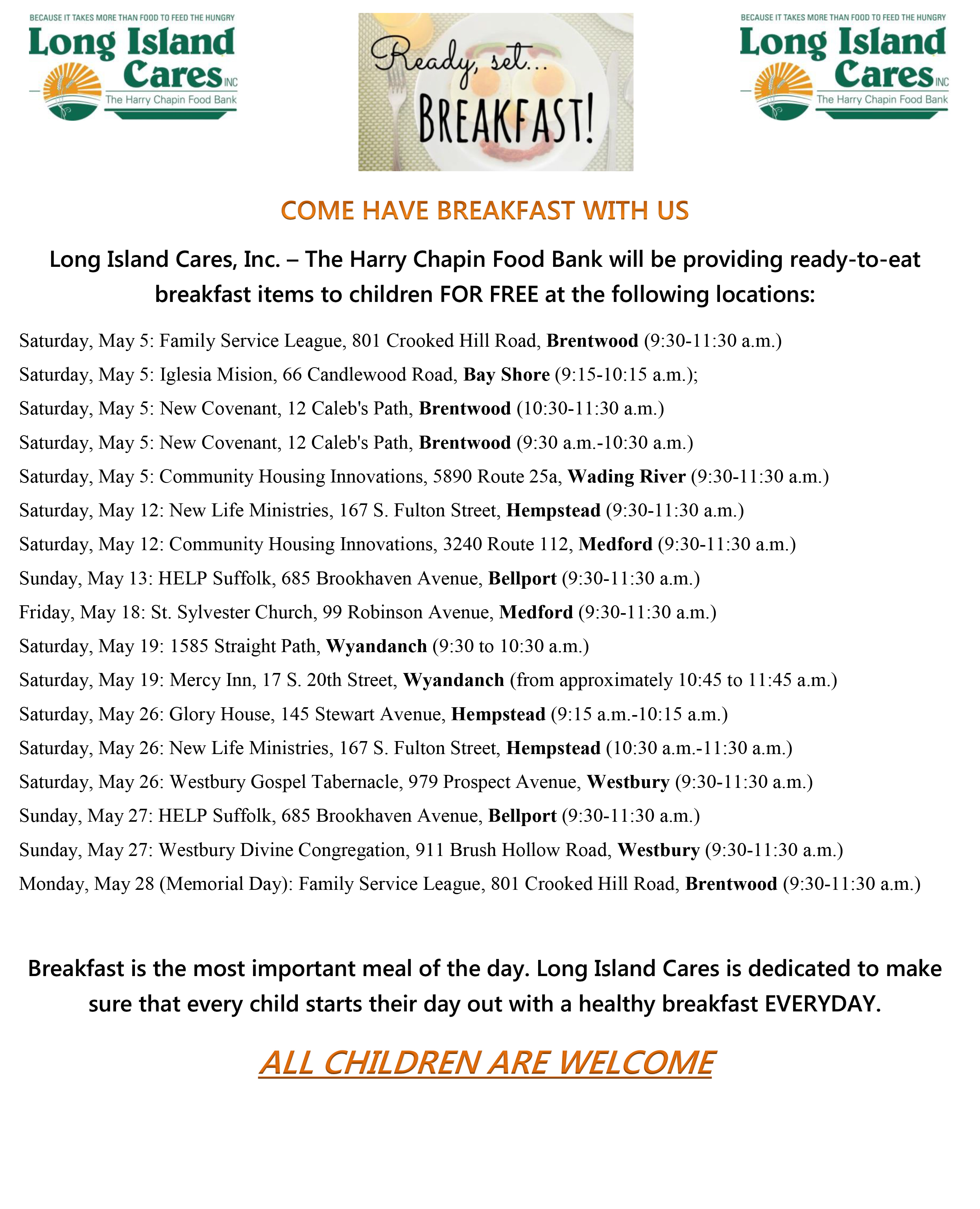 our breakfast food truck schedule is online join us for free
