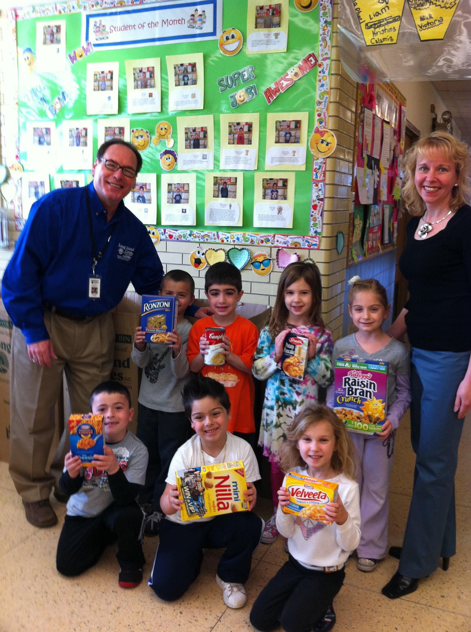 food drives long island cares inc img 0989 great neck adult learning paule with kids