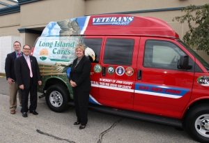 Executive Director Paule Pachter and Michael Haynes, Coordinator of Government Affairs and Veterans Services provide a sneek peek of our new Veterans Project Mobile Outreach Unit to Hempstead Town Supervisor Kate Murray.